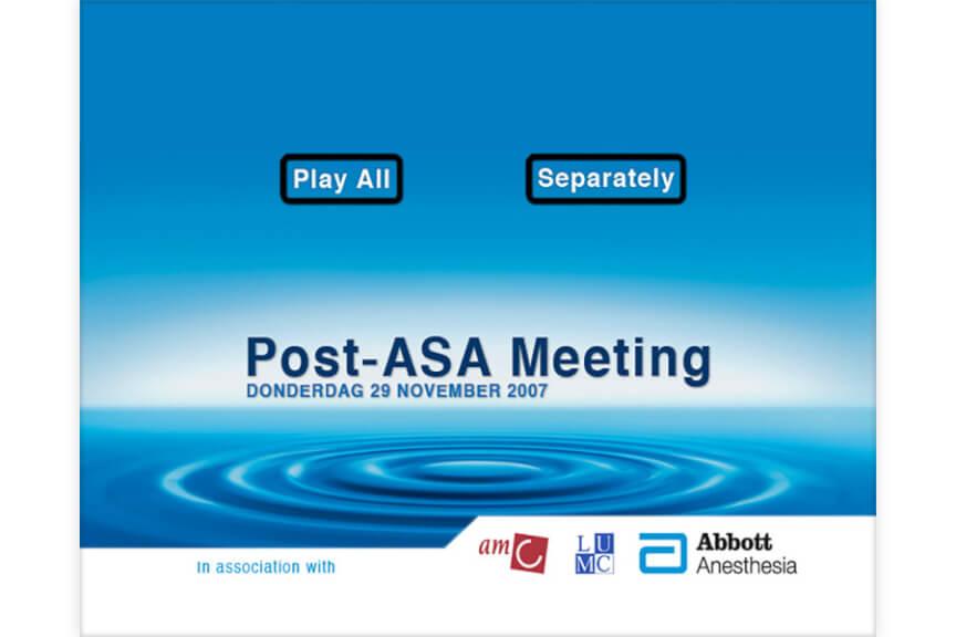 Post ASA DVD main menu