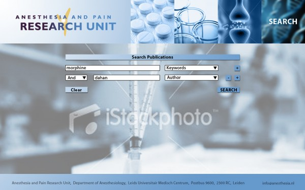 anesthesia - search page