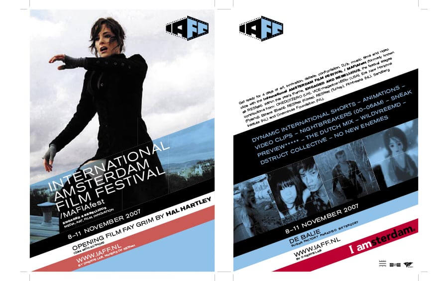 mafiafest double-sided print flyer